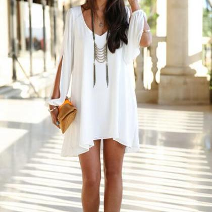 Sexy Sleeveless loose Mini Dress