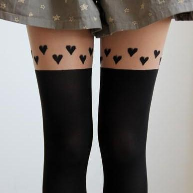 PEACH HEART FASHION SEXY STOCKINGS