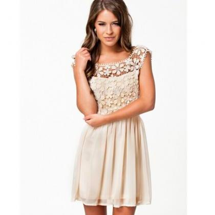 LACE HOLLOW-OUT BACKLESS DRESS MG81..