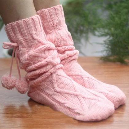 LOVELY WOOL KNITTING SOCKS PL1107CI