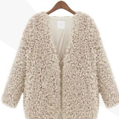 FASHION WINTER WOOL LONG SLEEVE COA..