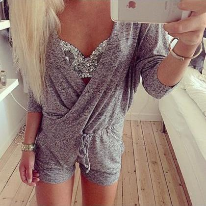 FASHION WOMEN KNITTING JUMPSUITS RS..
