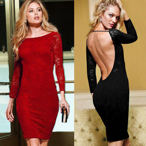 HOLLOW OUT BACKLESS LONG SLEEVES DRESS JJ1022HA