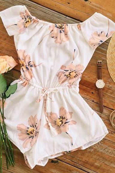 Casual Flower Romper Jumpsuit 66053IF