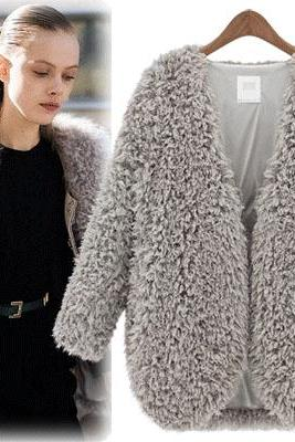 FASHION WINTER WOOL LONG SLEEVE COAT FD1213H