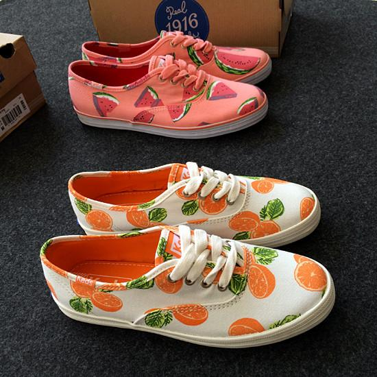 Summer Fruit Lace-up Canva..