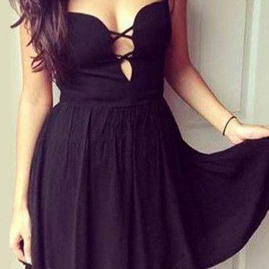 BOWKNOT BACKLESS DRESS