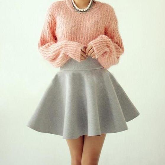 FASHION SEXY PURE COLOR SKIRT LK1211CH